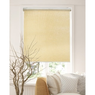 Chicology Felton Cream Snap-N'-Glide Cordless Natural Woven Privacy Roller Shades