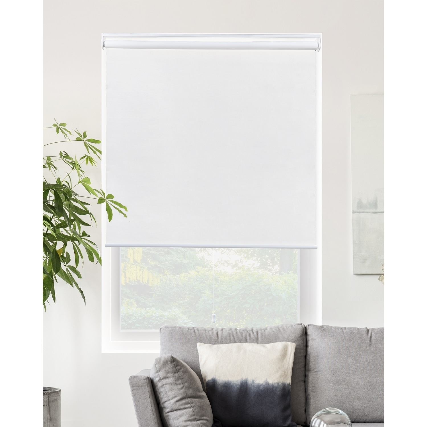 Chicology Blackout Cordless Roller Shades Snap N Glide Byssus White On Sale Overstock 17366499