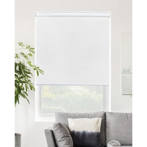 CHICOLOGY Blackout Cordless Roller Shades Snap-N'-Glide-Byssus White