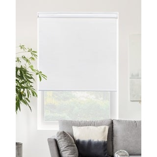 Chicology Byssus White Snap-N'-Glide Cordless Blackout Roller Shades