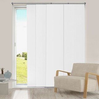 """Chicology Mountain Snow Adjustable Cut to Length Thermal Room Darkening Sliding Panels - 80""""w x 96""""h"""
