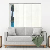 "Chicology Seaside White Adjustable Cut-to-length Natural Woven Sliding Panels - up to 80""w x 96""h"