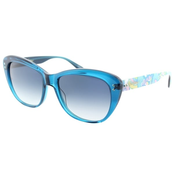 8837856498d Lilly Pulitzer Cat-Eye Monterey OC Womens Ocean Blue Frame Blue Gradient  Lens Sunglasses