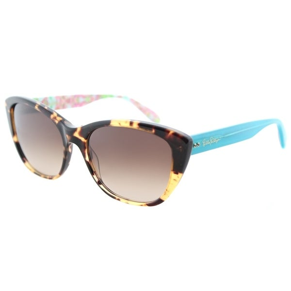 Shop Lilly Pulitzer Cat-Eye Flynn TO Womens Tortoise Sky Frame Brown ...
