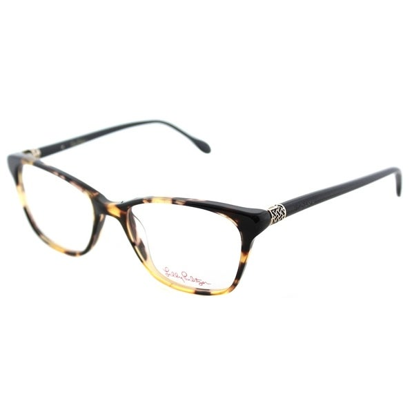 Shop Lilly Pulitzer Rectangle Lindley TO/NV Tortoise Navy Frame ...