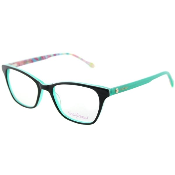 Lilly Pulitzer Rectangle Sydney GN Womens Green Frame Eyeglasses ...
