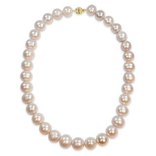 Miadora Signature Collection 14k Yellow Gold Multicolored Cultured Freshwater Graduated Pearl Necklace
