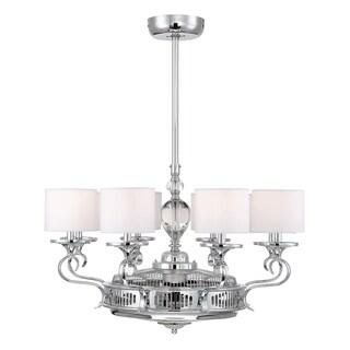 Savoy House Levantara Air-Ionizing Chrome/Polished Nickel Metal Ceiling Fan Fixture
