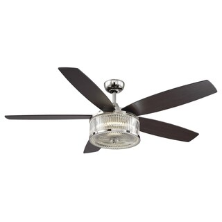 Savoy House Phoebe Brown/ Clear Nickel-finished Metal/ Glass 56-inch Ceiling Fan
