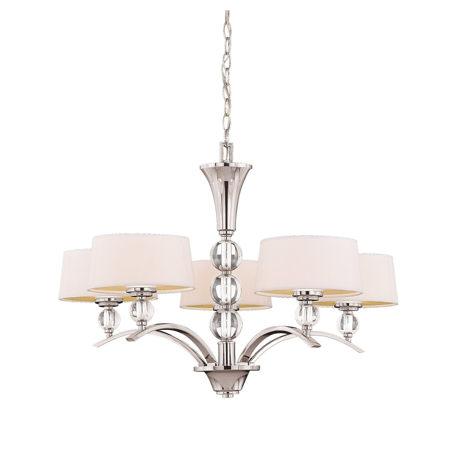 Savoy House Murren Polished Nickel 5-light Chandelier (Me...