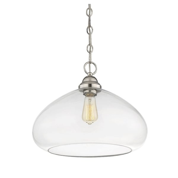 Savoy House Shane Polished Nickel Pendant