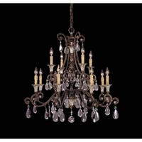 Savoy House St. Laurence New Tortoise Shell and Silver-finished 12-light Chandelier