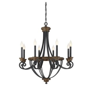 Savoy House Wickham Brown Wood and Metal 8-light Chandelier