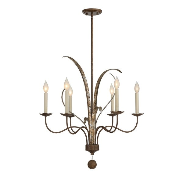 Mandolin Fiesta Bronze 6-light Chandelier
