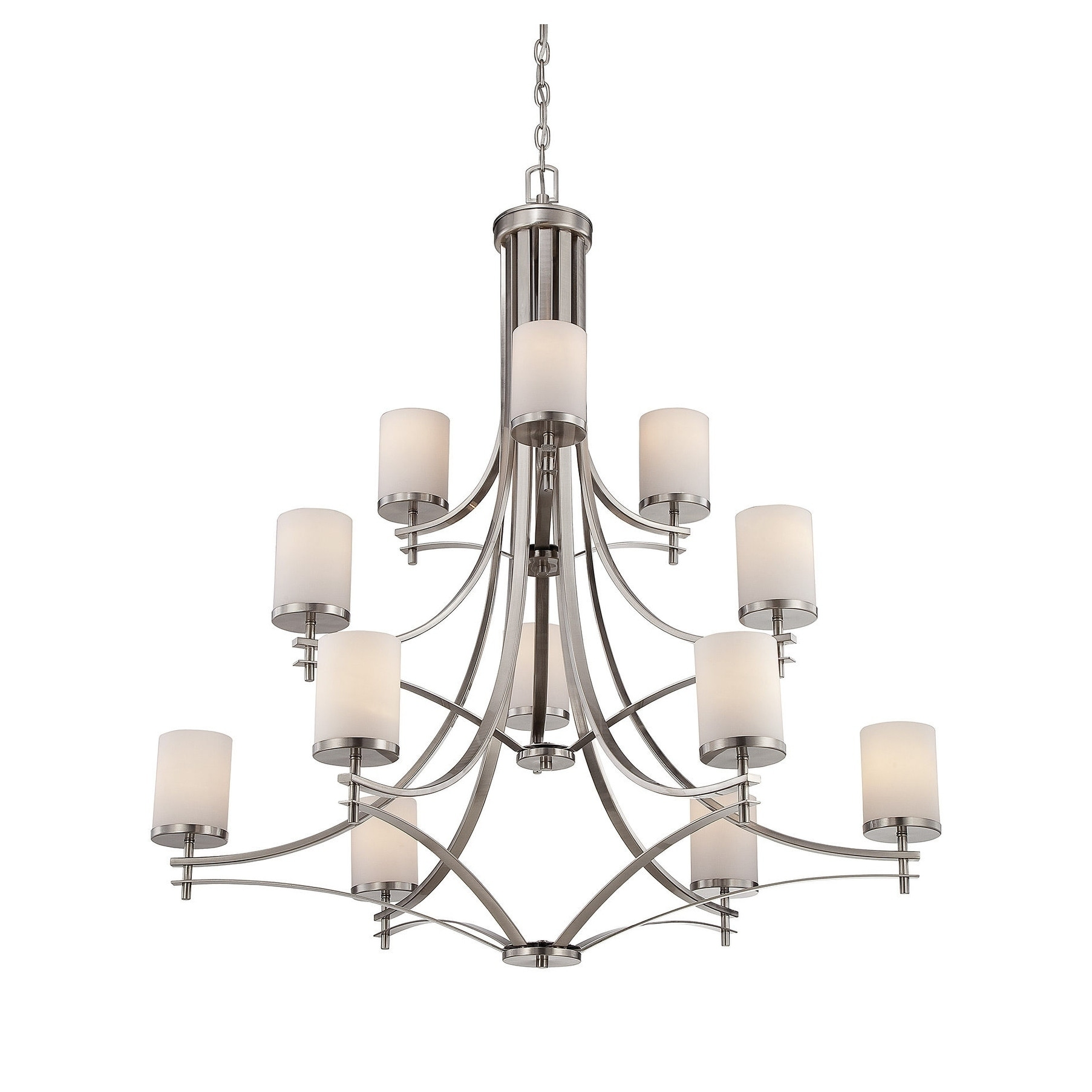 Colton 12 Light Chandelier Satin Nickel