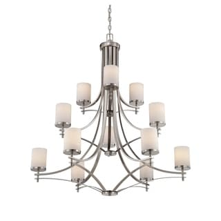 Colton 12 Light Chandelier Satin Nickel - Thumbnail 0