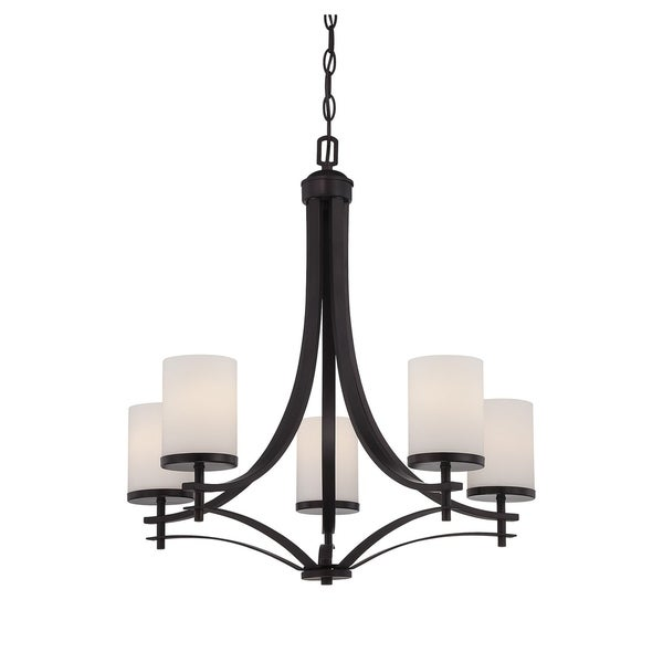 Colton 5 Light Chandelier English Bronze