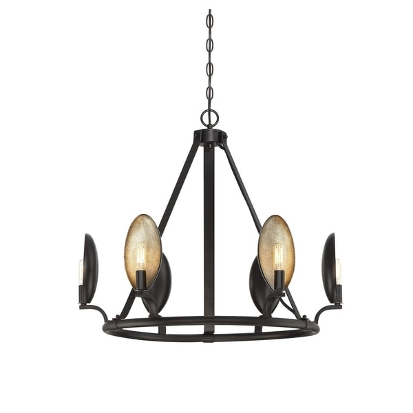 Prado 6 Light Chandelier Oiled Bronze
