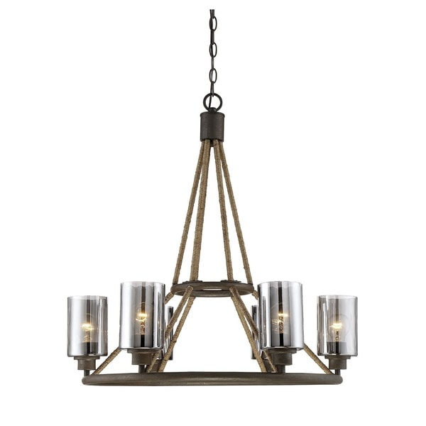 Savoy House Maverick Brown Metal 6-light Chandelier