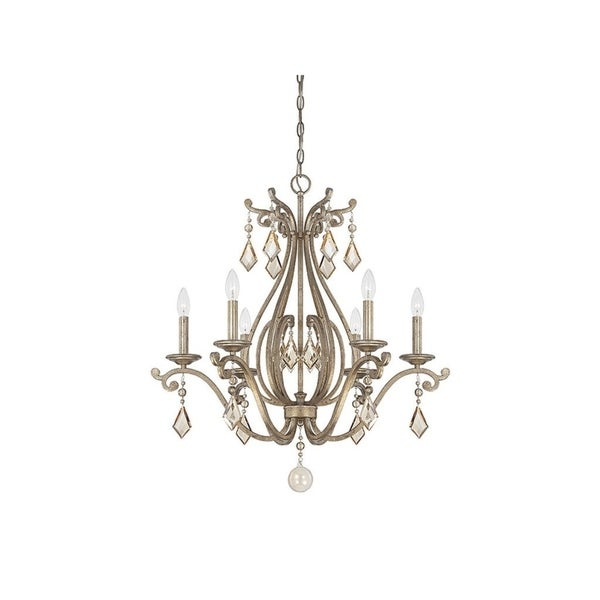 Rothchild Oxidized Silver 6-light Chandelier