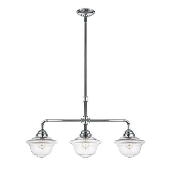 Savoy House Fairfield Chrome Metal/Glass 3-light Light
