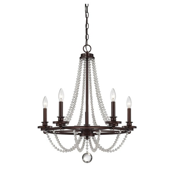 Byanca Mohican Bronze Finish Crystal-accented 5-light Chandelier