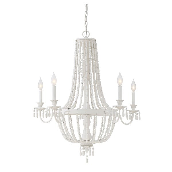 Savoy House Geneva 5-light Porcellana Chandelier