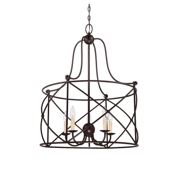 Seneca 5 Light Pendant English Bronze