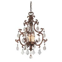 Savoy House Florence Brown Metal and Crystal 4-light Chandelier