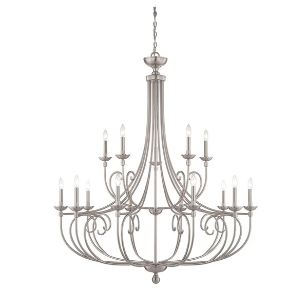 Savoy House Langley Satin Nickel 15-light Chandelier