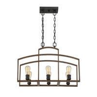 Gage 6 Light Chandelier Woodland Bronze