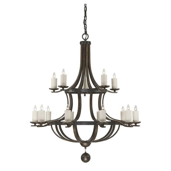 Savoy House Alsace Reclaimed Wood 15-light Chandelier