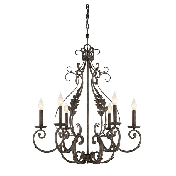 Savoy House Blair Fieldstone 6-light Chandelier
