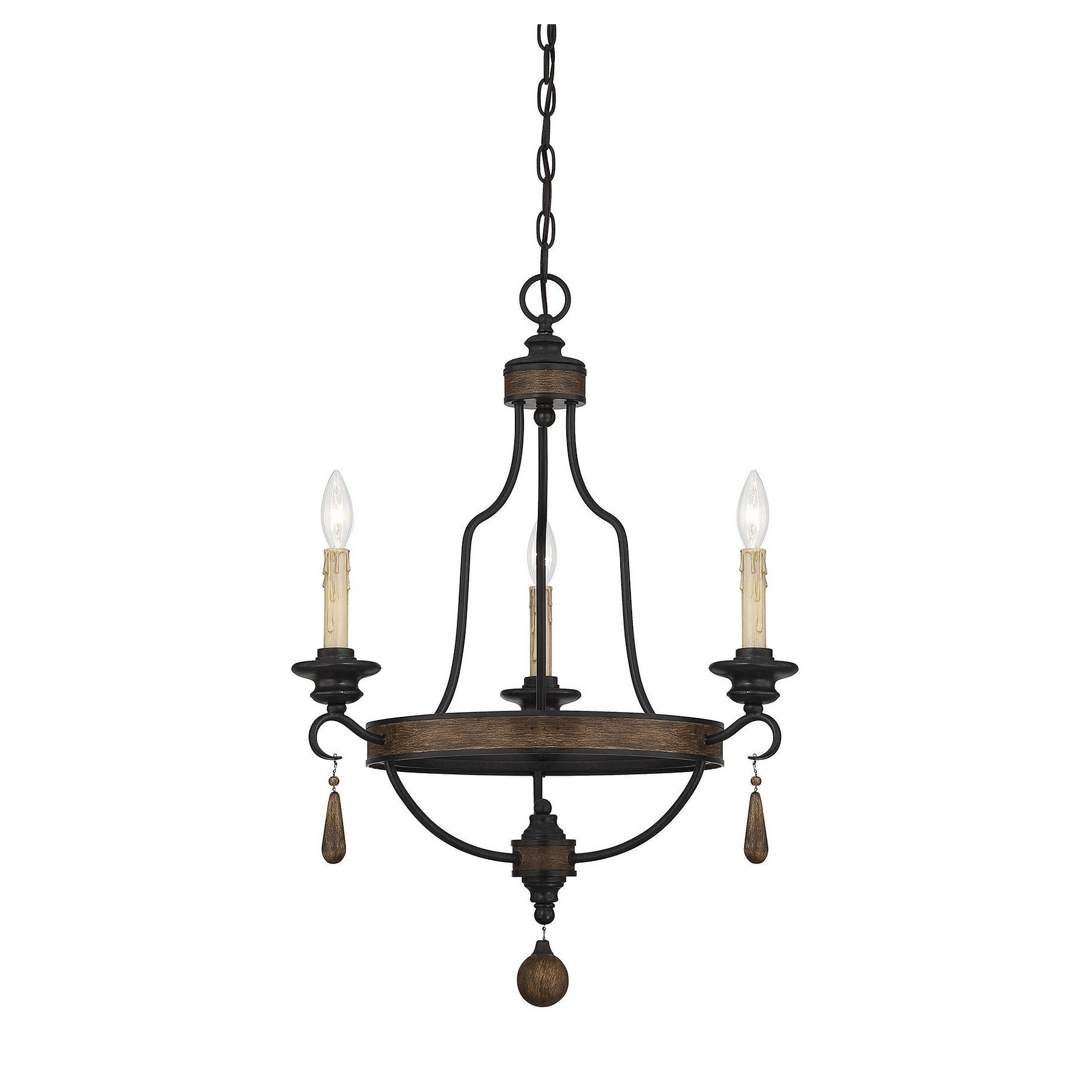 Kelsey Durango Finish Rustic 3-light Chandelier