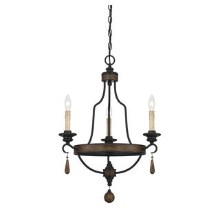 Kelsey Durango Finish Rustic 3-light Chandelier - Thumbnail 0