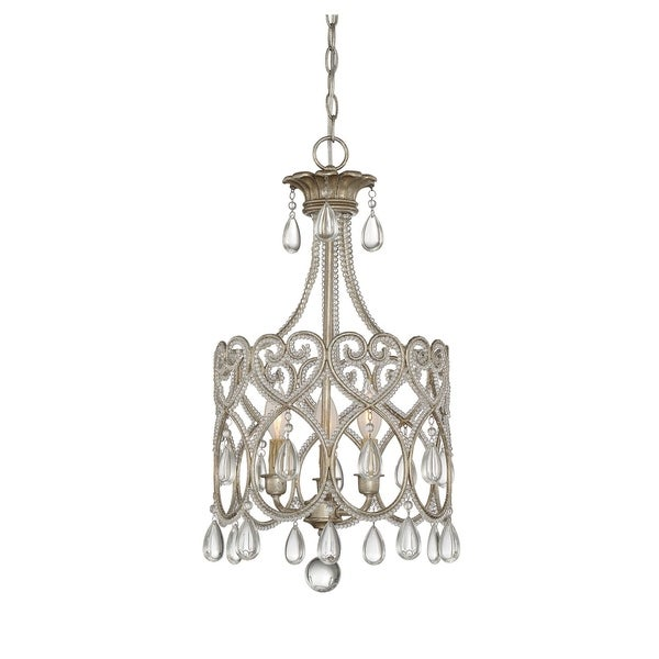 3 Light Mini Chandelier Argentum