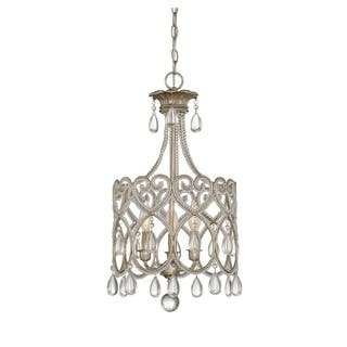 Glass savoy house chandeliers for less overstock savoy house argentum 3 light mini chandelier mozeypictures Gallery