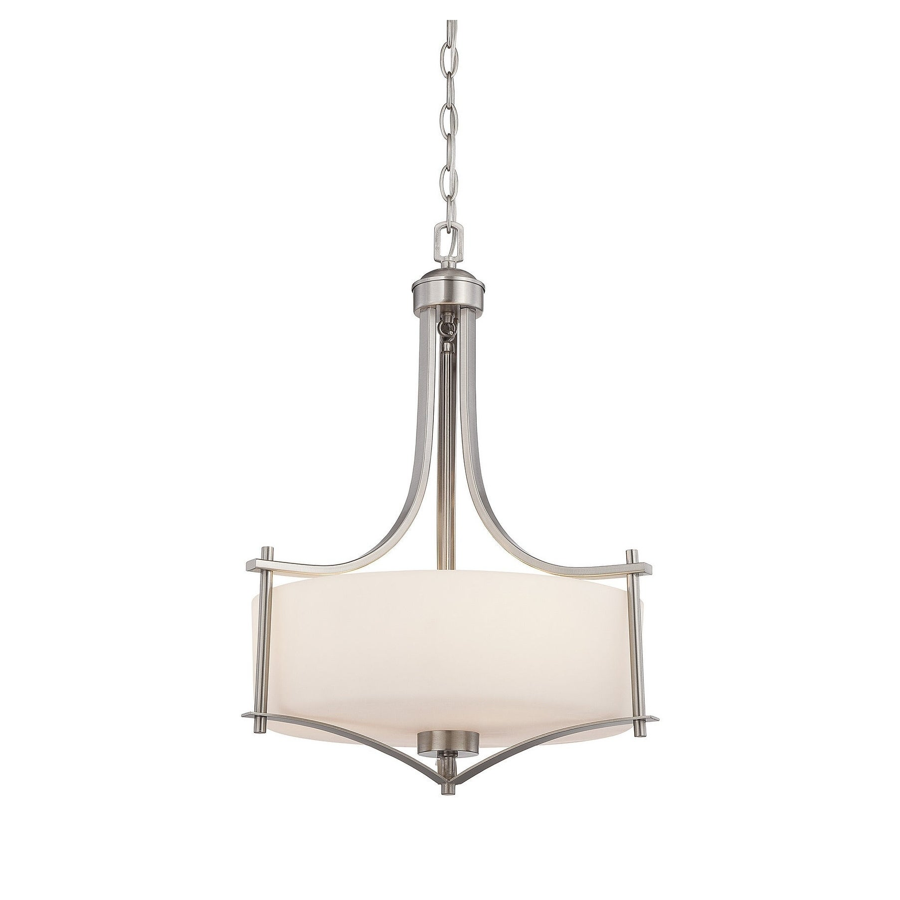 Colton 3 Light Pendant Satin Nickel