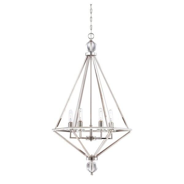 Savoy House Tekoa 6-light Polished Nickel Pendant