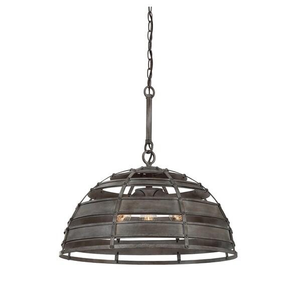 Malden Raw Steel 3-light Pendant