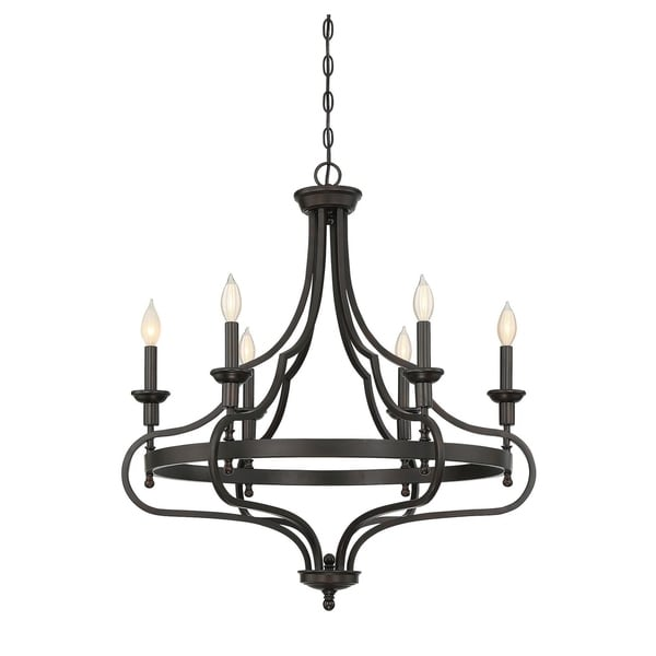 Sheilds 6 Light Chandelier English Bronze