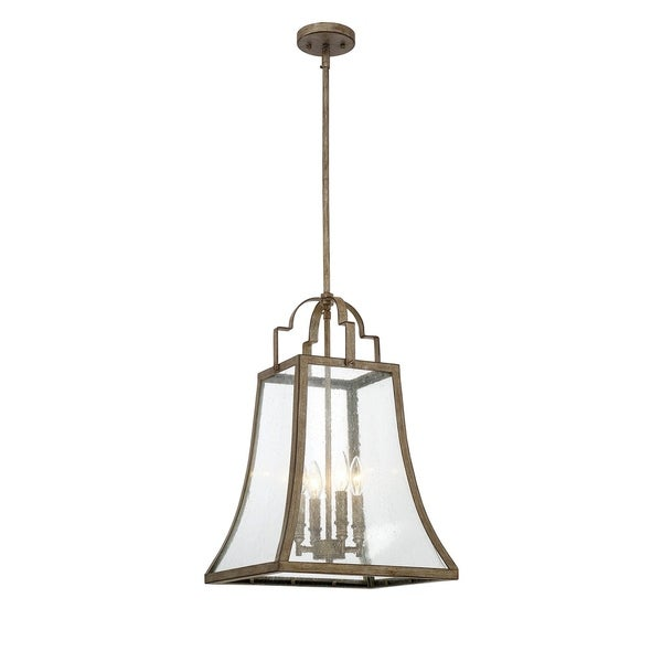 Belle 4 Light Pendant Chateau Linen
