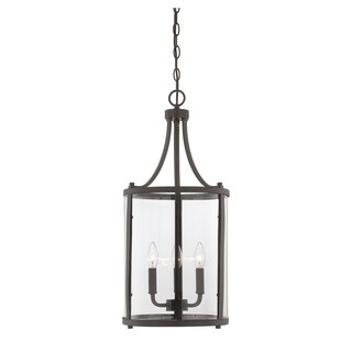 Savoy House Penrose English Bronze Metal/Glass Small 3-light Foyer Lantern