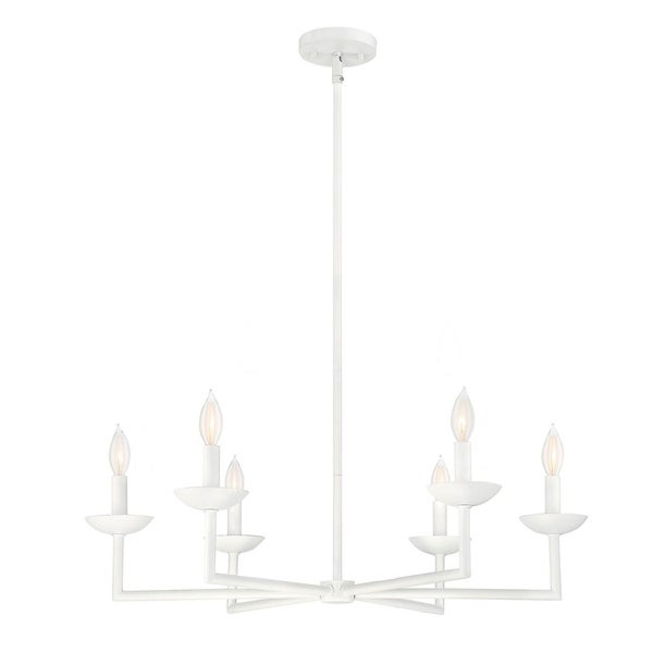 Savoy House Piper Porcellana-finished Metal 6-light Chandelier