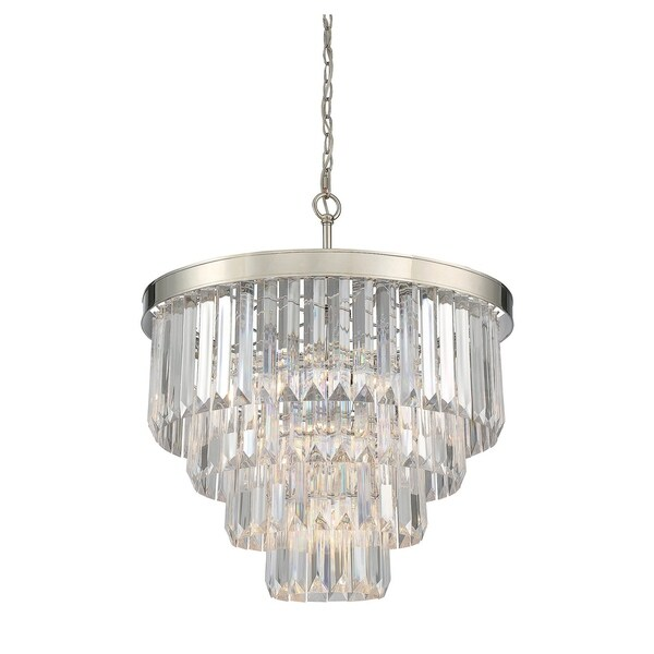 Tierney 6 Light Chandelier Polished Nickel