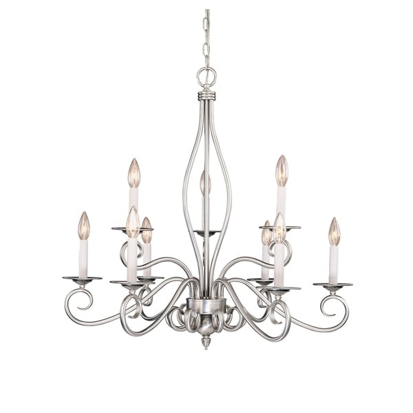 Polar 9 Light Chandelier Pewter