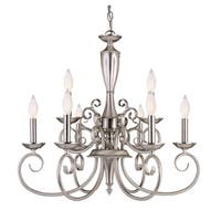 Spirit 9 Light Chandelier Pewter