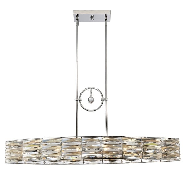 Lancaster 6 Light Island Light Polished Chrome