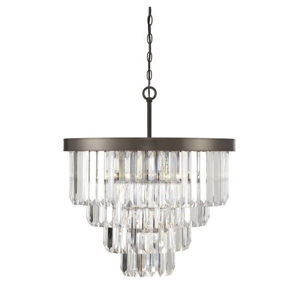 Savoy House Tierney Bronze Metal and Acrylic 6-light Chandelier