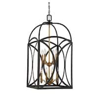 Talbot 8 Light Large Foyer English Bronze & Warm Brass